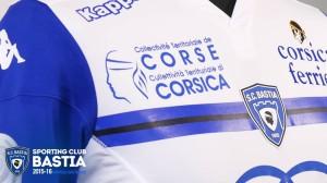 SC Bastia 2016 zoom sponsors maillot exterieur 15-16