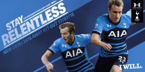 Tottenham 2016 maillot exterieur 2015 2016