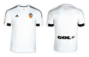 Valence 2016 maillot domicile Valencia 15-16 officiel