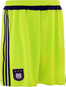 short exterieur RSC Anderlecht 2016 exterieur 2015 2016