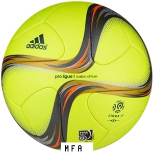 ballon ligue 1 2015 2016 jaune gris