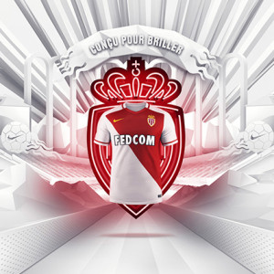 ASM Monaco 2016 maillot domicile football officiel