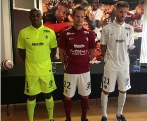 FC Metz 2016 maillots foot 2015-2016