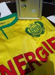 FC Nantes 2016 maillot domicile 15-16 braquage Umbro