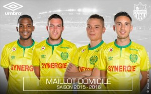 FC Nantes 2016 maillot domicile officiel 2015-2016