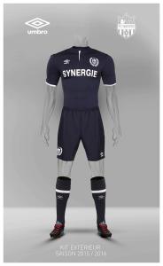 FC Nantes 2016 maillot exterieur 15-16 short chaussettes