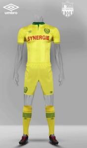 FC Nantes 2016 tenue foot domicile 15-16