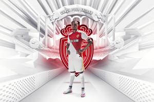 Monaco 2015 2016 maillot domicile Kurzawa