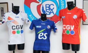 RCSA Strasbourg Alsace 2015 2016 maillots de football