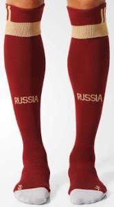 Russie Euro 2016 chaussettes de foot domiciles