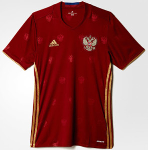 Russie Euro 2016 maillot domicile foot Adidas