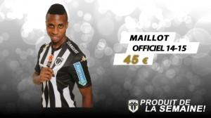 SCO Angers 2016 maillot domicile 15-16 officiel
