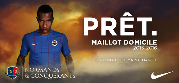 SM Caen 2016 maillot domicile officiel