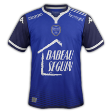 Troyes 2016 ESTAC maillot domicile football