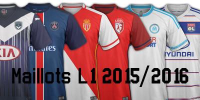 maillots foot Ligue 1 2016 L1