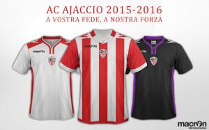 AC Ajaccio 2016 maillots de football 2015-2016