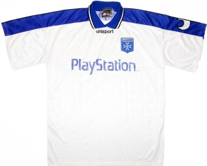 Auxerre maillot foot 2000 Playstation