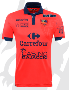 GFCA 2016 maillot domicile Gazelec Ajaccio 2015 2016