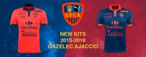 GFCA 2016 maillots de foot Gazelec Ajaccio 2015 2016