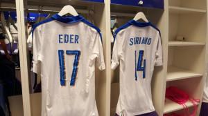 Italie Euro 2016 flocage du maillot exterieur
