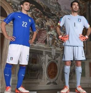 Italie Euro 2016 maillot domicile et gardien