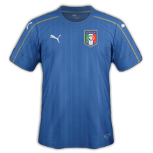 Italie Euro 2016 maillot football domicile