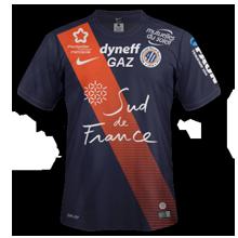 MHSC 2016 maillot domicile Montpellier 2015 2016