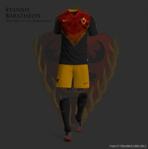 maison Baratheon maillot de foot Game of Thrones