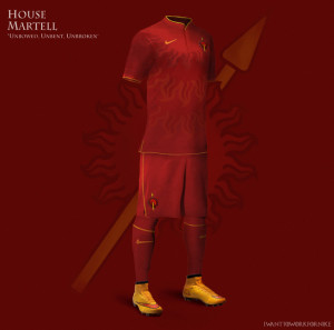 Maillot de foot maison Martell Game of Thrones