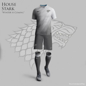 maillot de foot maison Stark Game of Thrones