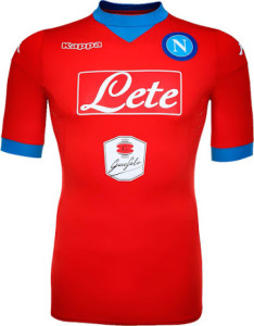 Naples 2016 maillot third rouge 15-16