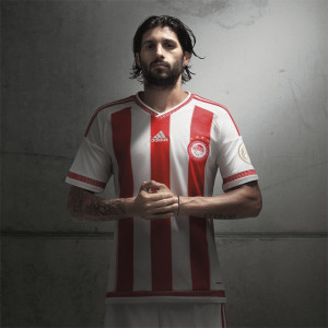 Olympiacos 2016 maillot domicile foot 15-16