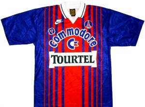 PSG maillot foot 1992 Commodore