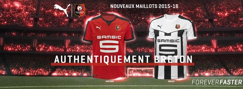 Rennes 2016 maillots de football 2015 2016