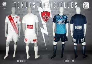 SB29 Stade Brestois 2015 2016 maillots de foot Brest 2016