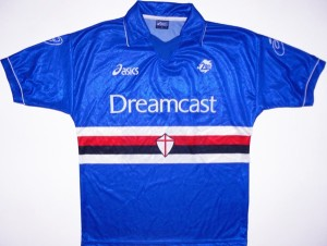Sampdoria 1999 maillot foot Dreamcast