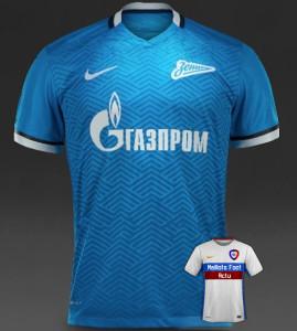 Zenit 2016 nouveau maillot domicile 15-16