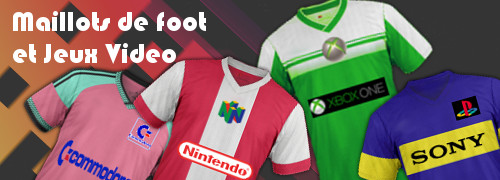maillots de football gamers jeux video