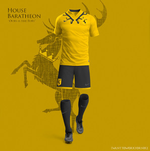 maillot football maison Baratheon Game of thrones
