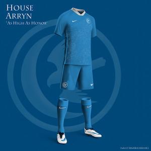 Maison Arryn maillot de foot bleu GOT