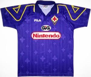 maillot foot Fiorentina 1997 Nintendo