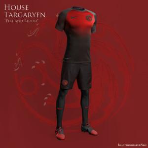 maillot foot Targaryen Game of Thrones