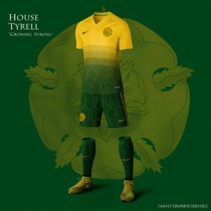 tenue de football maison Tyrell dans Game Of Thrones