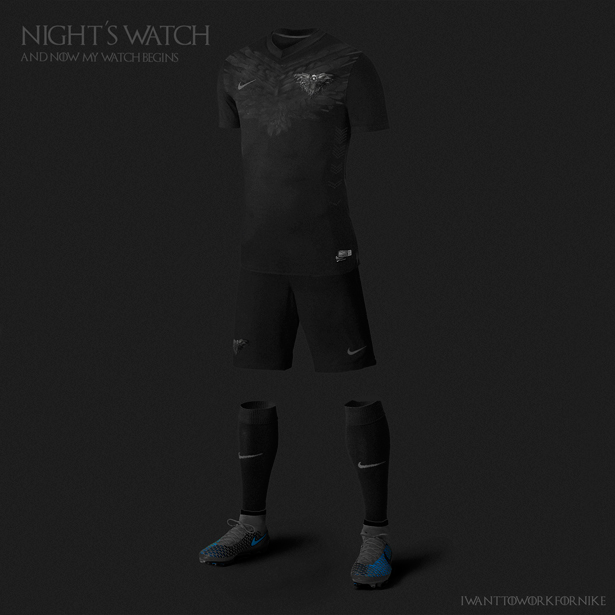maillot de foot garde de nuit Game Of Thrones