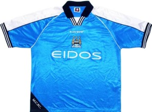 maillot football 1999 Manchester City Eidos