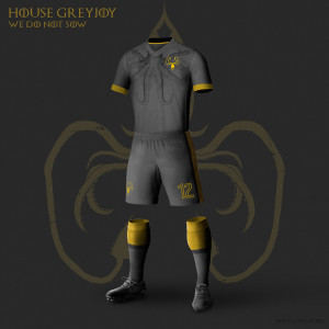 maison Greyjoy maillot de foot Game of Thrones