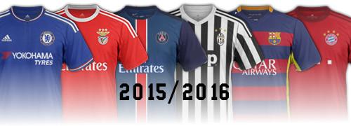 Les maillots de football 2015 2016