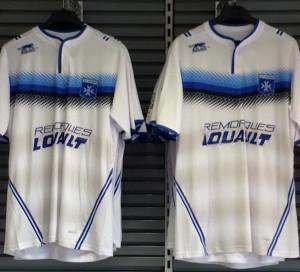 AJ Auxerre 2016 maillot domicile football