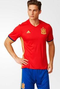 Espagne Euro 2016 maillot domicile Adidas