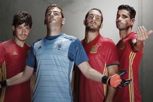 Espagne Euro 2016 maillot domicile et gardien